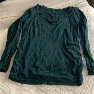 Ingrid and Isabel green maternity longsleeve top